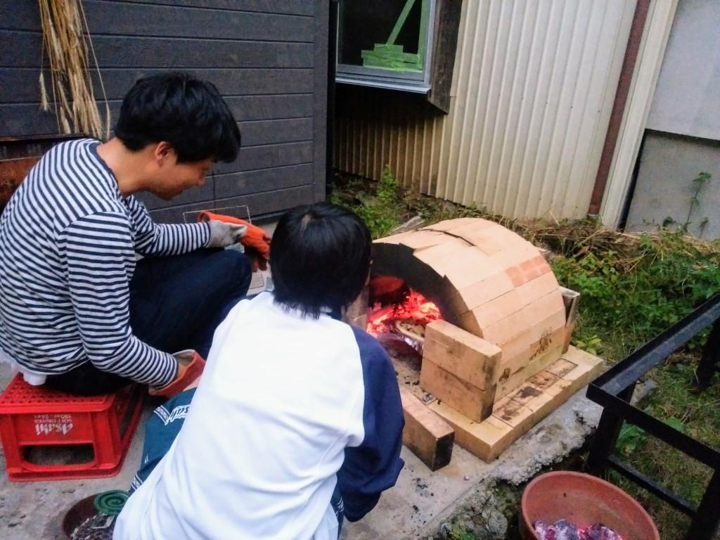 窯の火入れ
